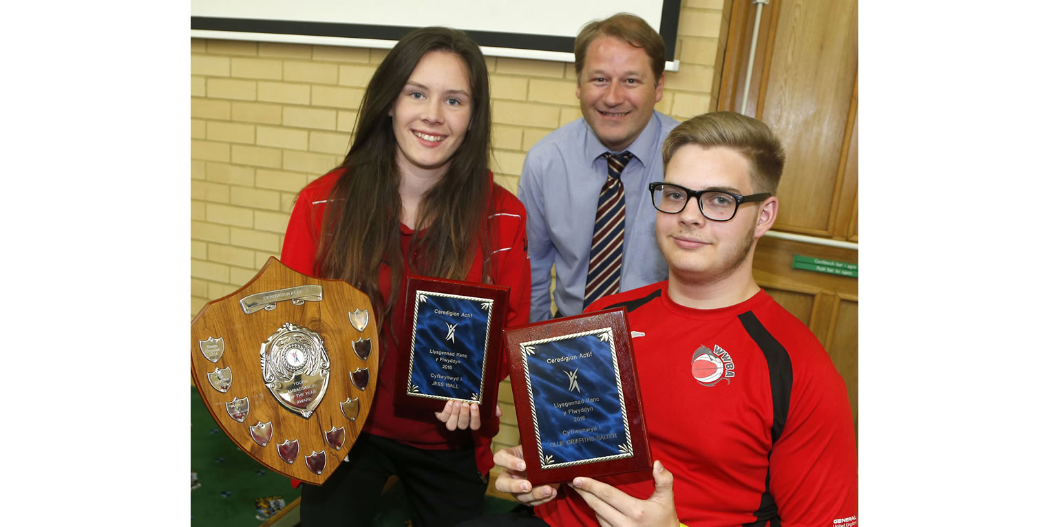 Ceredigion Sports Awards Young Ambassadors 2016